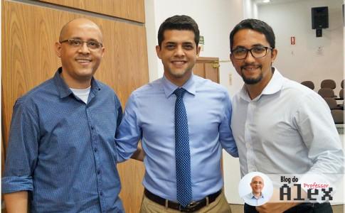 Prof. Alex, Caio França e Renato Donato
