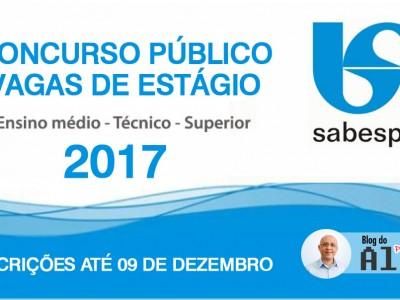 Concurso Público - Estágio - SABESP 2017